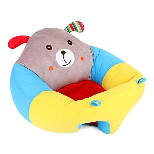 Sitzsack Baby Kindersitzsack Spielzimmer Baby Stützsitz mit Cartoon Tier Kindersessel Babysessel Kindercouch Kindersofa Mini Sessel Baby Lernt Sitzen-52cmx50cmx21cm