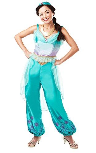 Rubie 's 820519s Offizielles Disney Prinzessin Jasmin Aladdin Erwachsene Damen Kostüm–UK Damen Größe 8–10, - Mädchen Halloween-kostüm Genie