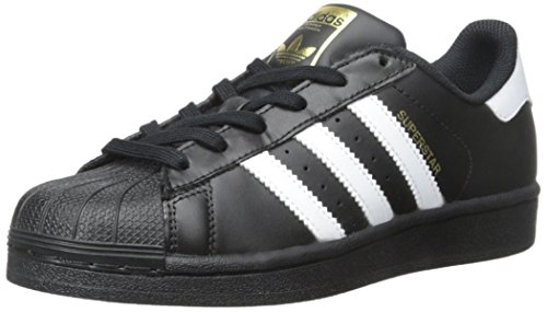 adidas Originals Superstar I Basketball Fashion Sneaker (Infant/Toddler),Black/White/Black,9 M US Toddler