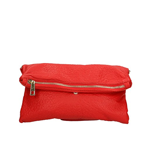 Borse 5x4 Borsa 100 26x14 Leather tracolla Chicca a Rosso in Genuine pelle dw1nZ0dxa