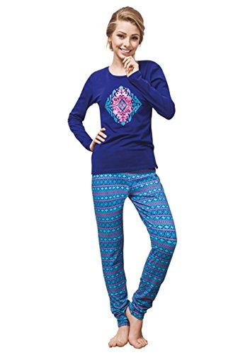Unbekannt - Ensemble de pyjama - Femme Bleu