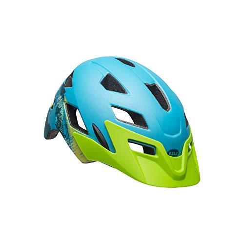 Bell Unisex Jugend SIDETRACK Child Fahrradhelm, Gnarly mat bt Blue/bt Green, Unisize