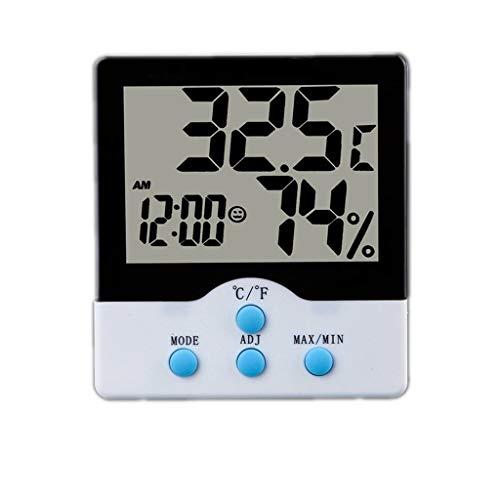 AILI Relojes meteorológicos Termómetro Digital LCD Higrómetro Temperatura electrónica Medidor de Humedad...