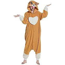 Wamvp Unisexo Adulto Kigurumi Pijamas Animal Pyjamas Disfraz Cosplay Halloween-Perro S