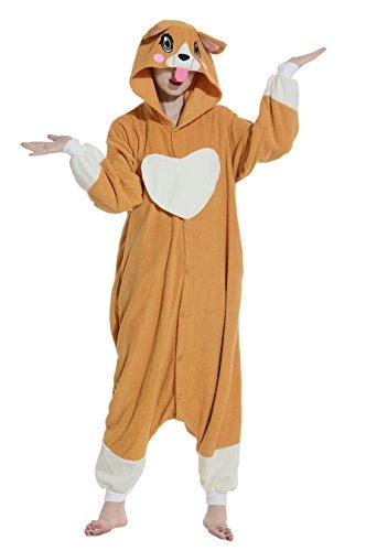 Wamvp Pyjama Tieroutfit Sleepsuit Unisex Anime Cosplay Kostüme für Erwachsene Hund - - Party Animal Kostüm Hunde