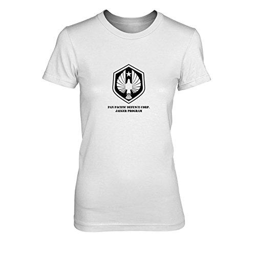 Jaeger Rim Kostüm Pacific - Jaeger Program - Damen T-Shirt, Größe: L, Farbe: weiß