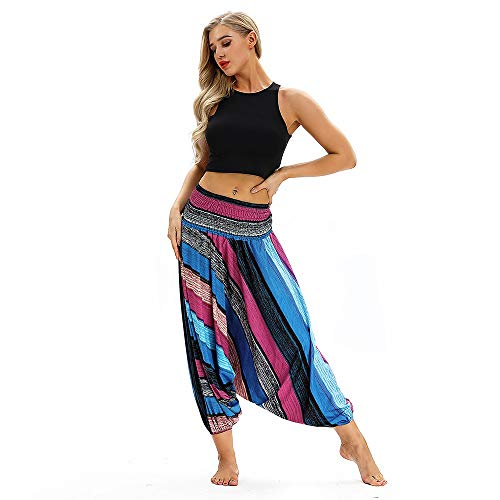 Manling7* pantaloni sauna dimagranti da donna pantaloni fitness yoga danza del ventre pantaloni larghi donna harem baggy hip hop vestiti pratica yoga tuta casual sciolto pantaloni yoga