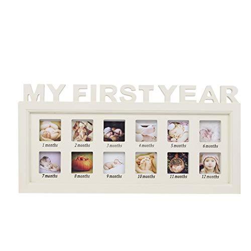 Wanlianer-Decoration Baby Footprint Photo Frame Set Speicher Souvenir Boy und Girl Baby Shower Geschenk aus Holz Bilderrahmen Baby Handabdruck und Fußabdruck
