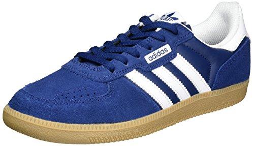 adidas Leonero, chaussons d'intérieur homme Bleu (Mystery Blue/Ftwr White/Gum)