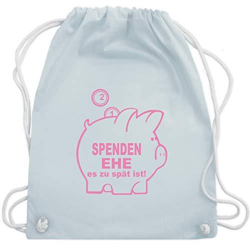 Kostüm Spenden - JGA Junggesellenabschied - Spenden Ehe - Unisize - Pastell Blau - WM110 - Turnbeutel & Gym Bag