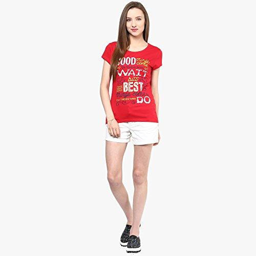 Honey By Pantaloons Women's Cotton T-Shirt (Pack of 3) (205000005566778_Black_X-Large)