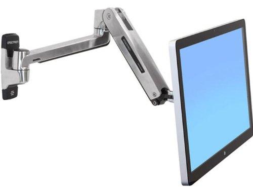 ergotron monitorhalterung ERGOTRON LX HD Sit-Stand Wall Mount LCD Arm max 13,6kg. anheben 51cm neigen 80grad schwenken 360grad drehen 90grad