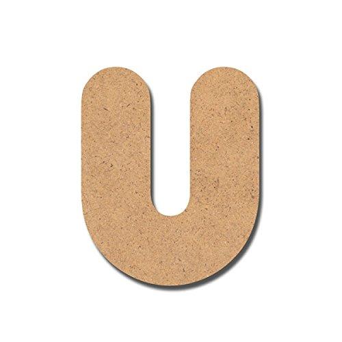 Canevas pour enfant Loisirs créatifs - Lettre en bois 7 cm U