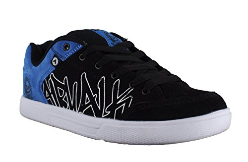 airwalk-mens-casual-skate-lace-up-padded-shoes-trainers-uk-10-outlaw-black-blue