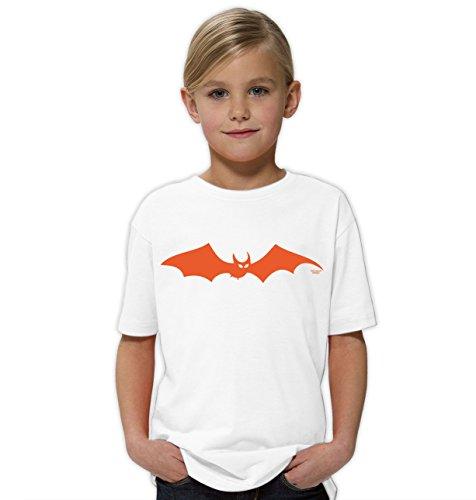 der-Halloween-Fun-T-Shirt als Geschenke-Idee Motiv: Fledermaus Farbe: weiss Gr: 134/146 (Deko-ideen Für Halloween)