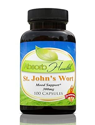 St John's Wort Extract | Well Known Mood Support | 100 Capsules | 300 mg Per Capsule by Absorb Health