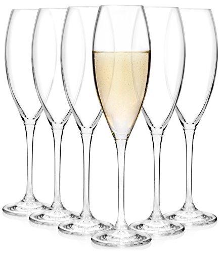 Bluespoon Sektglas Cecilia Set 6 teilig | Füllmenge 300 ml | Für den perfekten Anstoß bei besonderen Anlässen