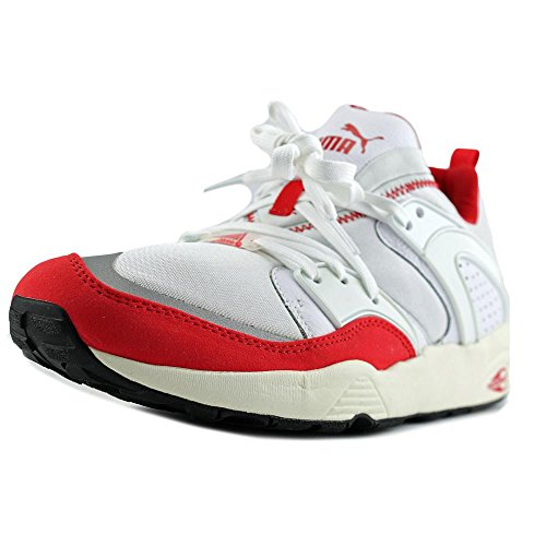 Puma Blaze Of Glory Primary Cuir Baskets White-High Risk Red