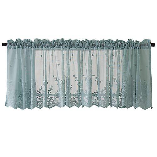 Kleine Fenster Vorhang, 137 * 61 cm Einfachen Stil Küche Cafe Vorhänge Halben Vorhang Volants Rod Hängen Installation für Küche Bad Kleine Fenster (Volant Vorhänge Für Das Bad)