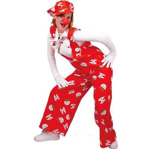 Damen & Herren-Kostüm Latzhose Köln, rot Gr. (Stadt Party M&m Kostüm)