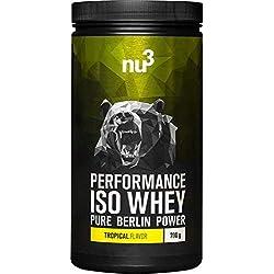 nu3 Performance Iso Whey - 700g saveur tropical - Shake pour prise de masse musculaire rapide à préparer - Excellente solution sport et délicieux goût tropiacal - Contient 83% de protéines naturelles