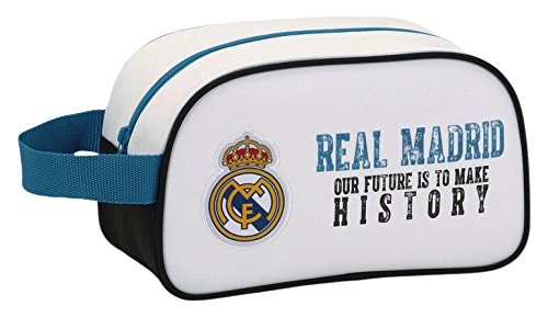 Real Madrid 11754 Bolsa de Aseo, 26 cm, Blanco