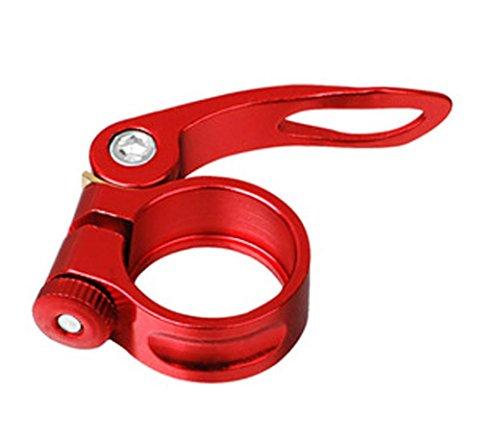 Hunpta 31,8 mm MTB Bike Fahrrad Rad Sattel Sattelrohrschelle Schnellspanner Stil (Rot)