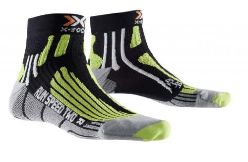 X-Socks Herren Socken RUN SPEED TWO, Black/Green lime, 39/41, X020432