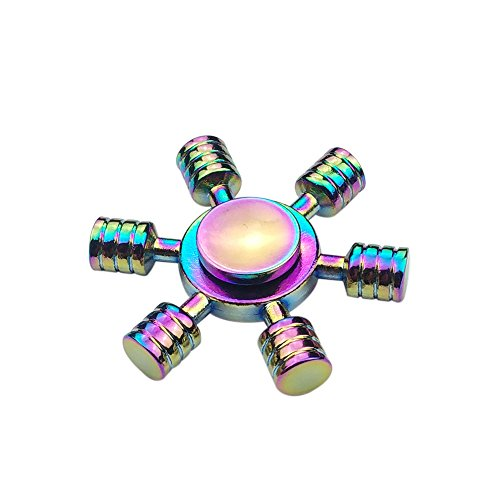 Hexa Rainbow Metal Fidget Spinner | Anti Stress | Quality: Original Premium | Colour: Rainbow