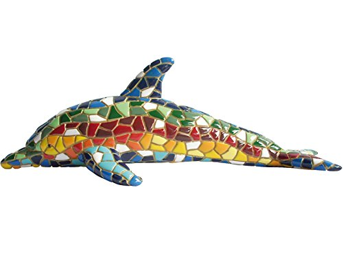 Figure Dolphin Multicolor in Mosaic of the Collection Trencadis Antonio Gaudí