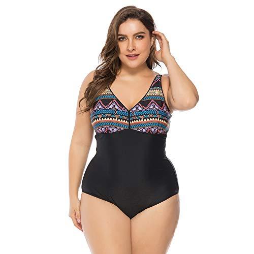 Lover-Beauty Bikini Mujer Una Pieza Talla Grande Ropa de Baño Vintage Retro Push Up Tirante...