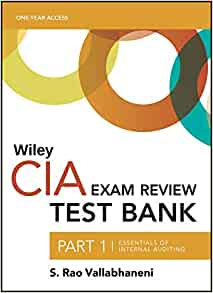 Wiley CIAexcel Test Bank 2019: Part 1, Essentials of