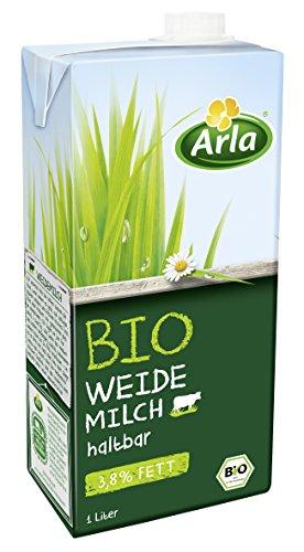 Arla BIO Haltbare Weidemilch 3.8% Fett, 6er Pack (6 x 1 l)