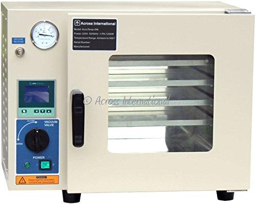 Cfm Pumpe (Ai accutemp 25Liter (0,9CF) 220V Vakuum Ofen mit 5-seitige Pad Heizung und back-fill fähig mit eurovacuum evd-ve26010M3/H (5,9cfm) Vakuum Pumpe und Anschluss-Set.)