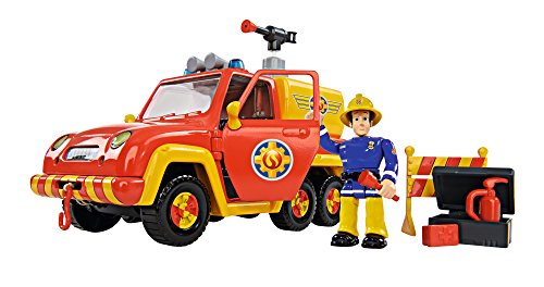 feuerwehrmann sam gelaendewagen Simba 109257656 - Feuerwehrmann Sam Feuerwehrauto Venus mit Figur und Originalsound