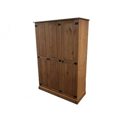 Mercers Furniture Corona Primavera 3-Door Wardrobe - Pine - low-cost UK light shop.