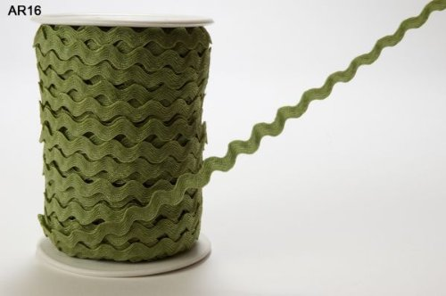 Verde oliva nastro 6mm Ric Rac by Arti Può su