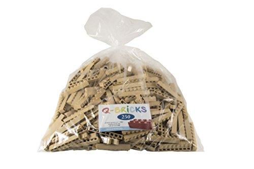 q-bricks QB1X 8?094-bg2501x 8Noppen Bausteine in lose Pack, elfenbeinfarben, 250 Preisvergleich
