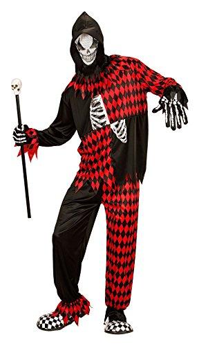 Widmann-Evil Jester Mens, M, vd-wdm08742 (Kostüm Evil Jester)