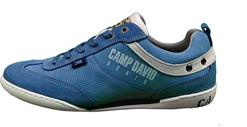 Camp David Sneaker Aus Leder CCU-1755-8878 Blueberry Blue oder French Blue (43, French Blue)