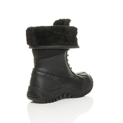 Inverno Alta Preta Peles Botas Tamanho Saltos De De De Neve Pequenos Laços Mulheres Bezerro xFCqcT87wK