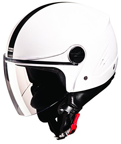 Studds Track SUS_TPOFH_WHEL Open Face Helmet (Plain White, L)