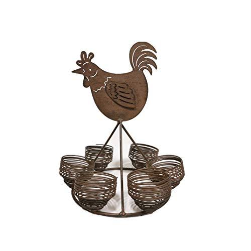 Yarshopy Support à œufs en métal, support de comptoir pour rangement et présentation des œufs,...