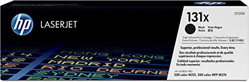 Drucker Hp Laser Color (HP 131X (CF210X) Schwarz Original Toner mit hoher Reichweite für HP LaserJet Pro 200 Color M251, MFP M276)