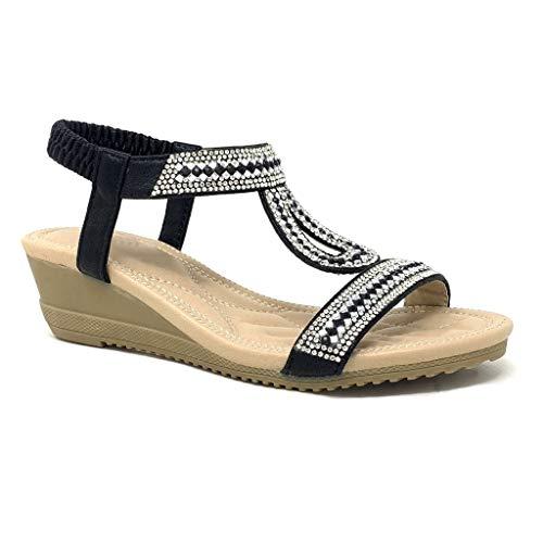 Angkorly - Zapatillas Moda Sandalias Correa Tacones