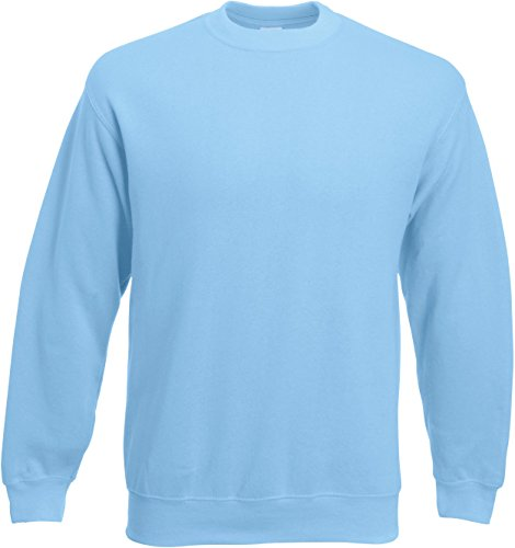 Set-In Sweatshirt XL,Sky Blue