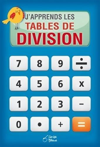 J'apprends les tables de division