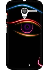 AMEZ designer printed 3d premium high quality back case cover for Moto X (abstract eye)