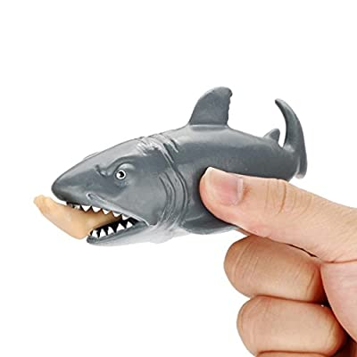 Mingfa Squishy Slow Rising Squishies Jumbo Funny Shark Stress Reliever Squeeze Toy Sensory Toys (A)