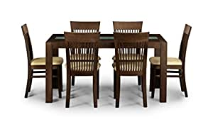 Julian Bowen Santiago Dining Table Set With 4 Chairs Dark